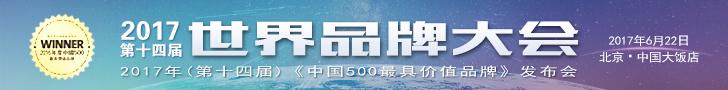 2017年世界品牌大会 2017年中国500最具价值品牌